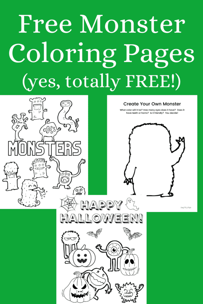 Free Monster Coloring Pages for Kids -  Grab your free monster coloring pages printables today!
