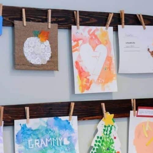 DIY Pallet Art Display by DIY NUTS