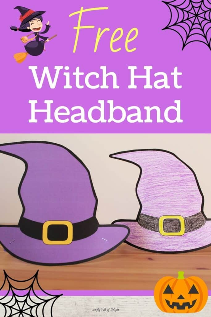 Witch Hat Headband printable - A super fun Halloween activity for kids and an easy Halloween craft!