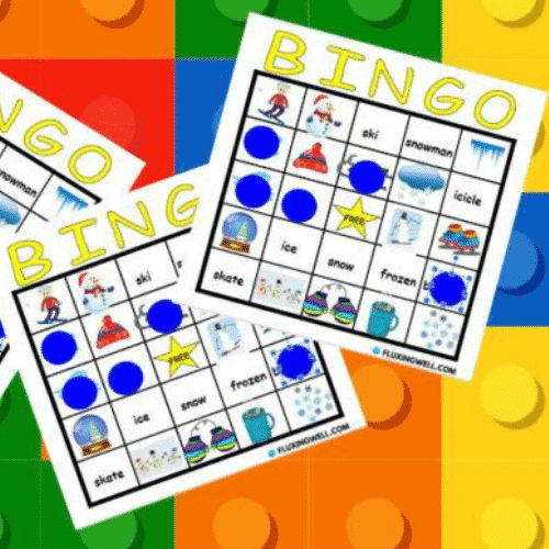 Virtual Bingo for virtual birthday party games by Fluxing Well