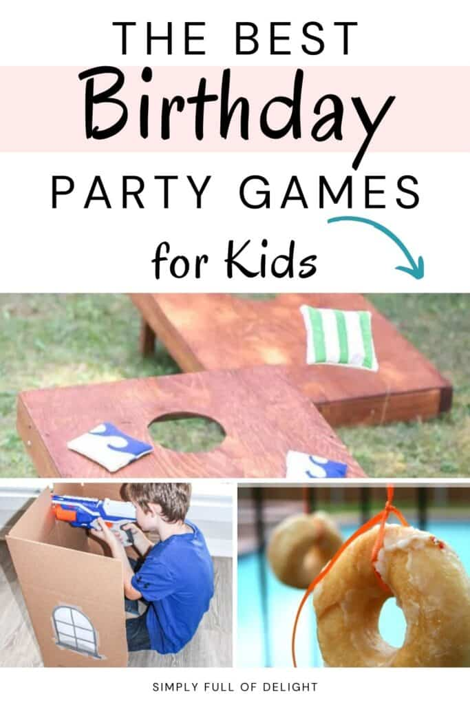 The Best Birthday Party Games for Kids - There's indoor birthday party games as well as outdoor birthday party games for kids.  There's also ideas for virtual birthday games!  Learn more now