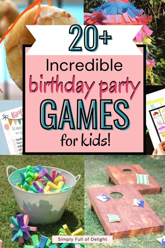 20+ Incredible Birthday Party Games for Kids - There's indoor birthday party games as well as outdoor birthday party games for kids.  You'll even find some virtual birthday games!  Click here to learn more!