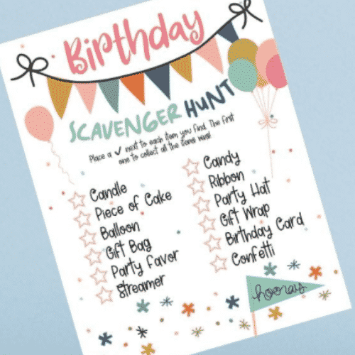 Birthday Scavenger Hunt by Brooklyn Active Mama