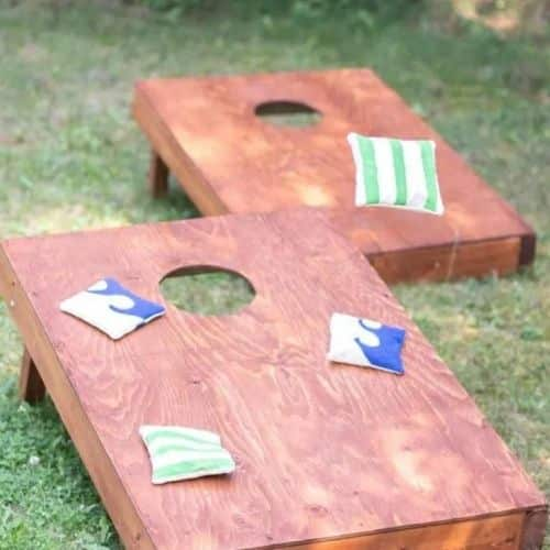 Make your own Corn hole game with sustain my craft habit