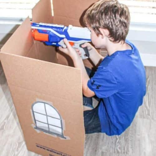 Nerf Gun games - birthday party games indoors
