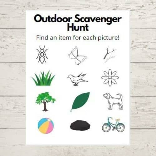 Outdoor Scavenger Hunt by Simply Full of Delight